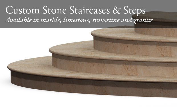 Picture of custom stone staircase