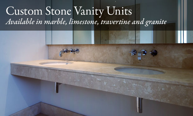 Custom Bathroom Vanity Units custom stone vanity units