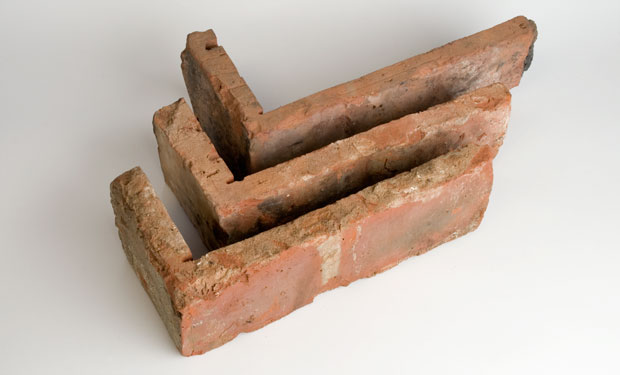 Corner Piece Reclaimed Brick Tile Goss Marble